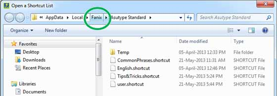 Click the Fanix sub-folder